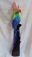 Статуэтка деревянная попугай высота 100см
