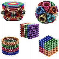 Конструктор анти-стресс Neo Cube 5мм. 216 шариков, разноцветный, неодимовый магнит, магнитный конструктор