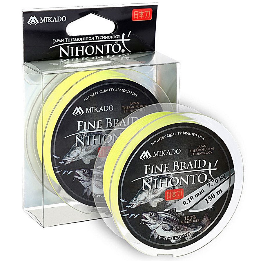 Шнур Mikado Nihonto Fine Braid 150м 0,16мм 12,50кг fluo