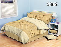 Отличное постельное белье ТМ Вилюта, двуспальное, ткань ранфорс-платинум