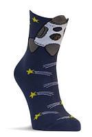 Носки детские демисезонные синего цвета, объёмный рисунок, р.12-14, фото 1