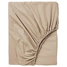 Простынь на резинке Bella Villa сатин 160х200+25 см кремовая