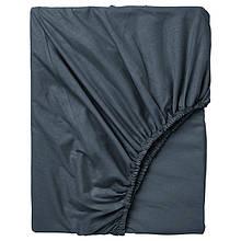 Простынь на резинке Bella Villa сатин 160х200+25 см графитовая