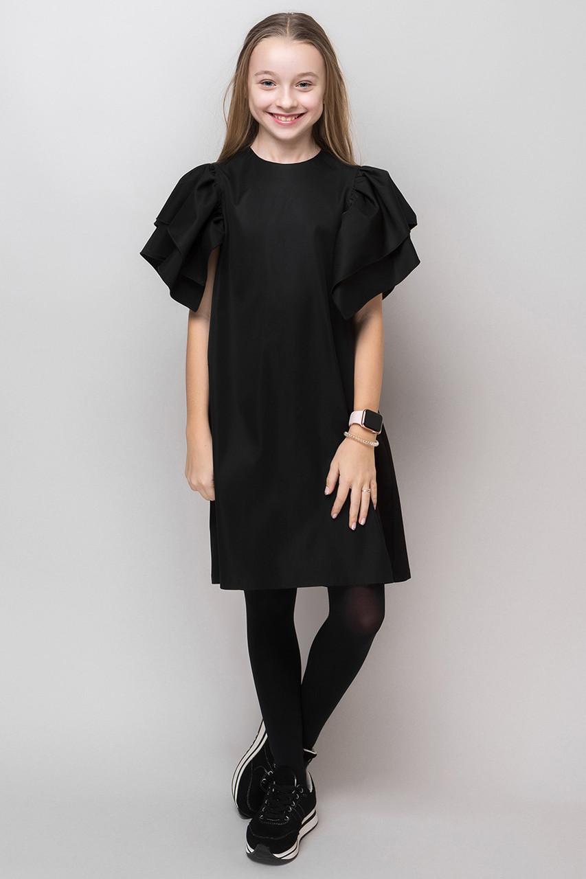 Школьное платье для девочки с объёмными рукавами на рост от 134 до 164 см