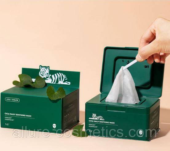 Набір щоденних заспокійливих тканинних масок VT Cosmetics Cica Daily Soothing Mask