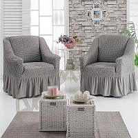 Чехол на кресло универсальный серый