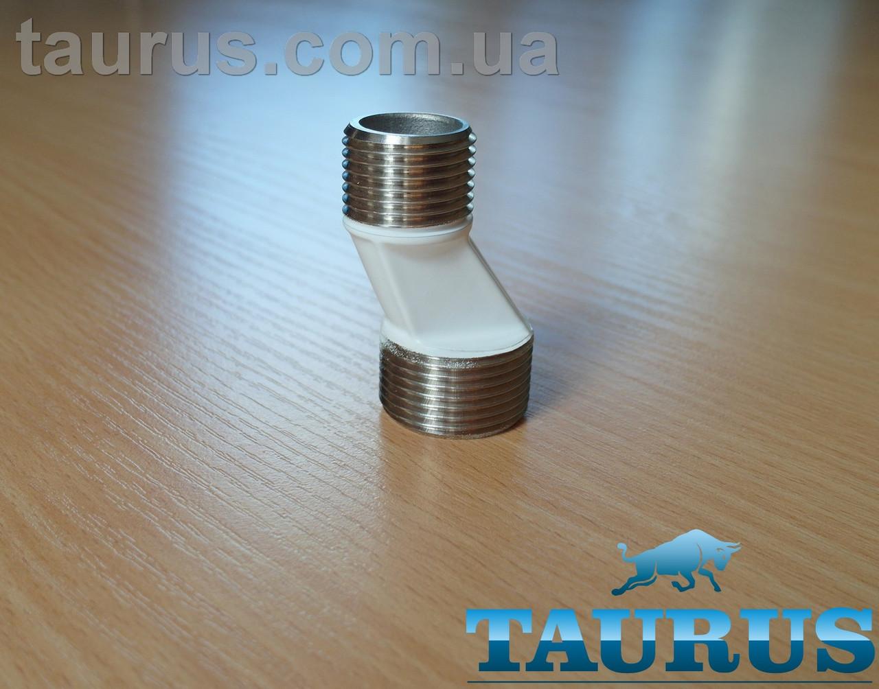 Білий нержавіючий ексцентрик TP White AISI304 для зміщення підключення до 11 мм; різьба 1/2-3/4 зовнішня