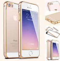 """Бампер металлический STA Smart Frame с защитой камеры для Apple iPhone 6 (4,7"""") Gold, фото 1"""