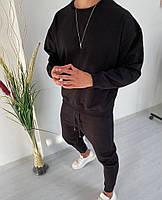 Чоловічий спортивний костюм зі штанами і свитшотом з двунити, фото 4