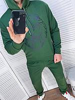 Чоловічий спортивний костюм зі штанами і свитшотом з двунити з капюшоном, фото 2
