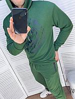 Чоловічий спортивний костюм зі штанами і свитшотом з двунити з капюшоном, фото 5