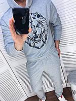 Чоловічий спортивний костюм зі штанами і свитшотом з двунити з капюшоном, фото 6