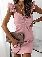 Очаровательное летнее платье платье-мини с воланами