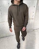 Стильный мужской спортивный костюм из двунити с капюшоном, фото 5