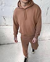 Стильный мужской спортивный костюм из двунити с капюшоном, фото 2
