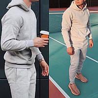 Стильный мужской спортивный костюм из двунити с капюшоном, фото 3