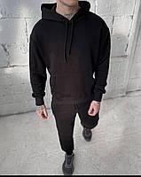Стильный мужской спортивный костюм из двунити с капюшоном, фото 8