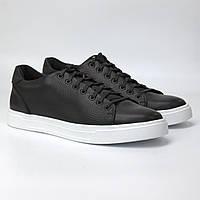 Черные кеды кроссовки кожаные мужская обувь больших размеров Rosso Avangard Konvaro Black Floto TPR White BS