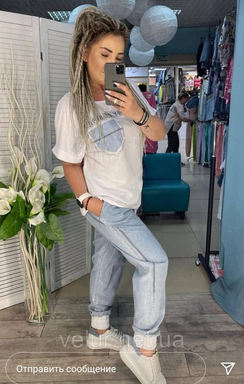 Жіночий літній костюм з джинсами *Cignet* (Туреччина); розм 48,50,52,54,56.