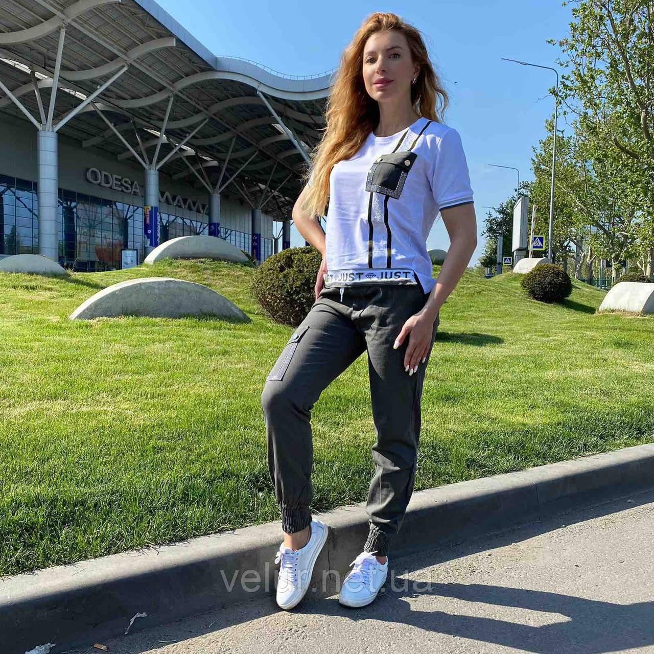 Женский спортивный  костюм с брюками *Signet*,(Турция); разм С,М,Л,ХЛ норма,цвет хаки.