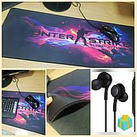 Cs go Великий килимок для миші ігровий Counter-Strike (ігрова поверхня), Геймерський килимок 80*30 см