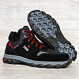 Чоловічі черевики євро зима чорні (СГЗ-5ч), фото 6