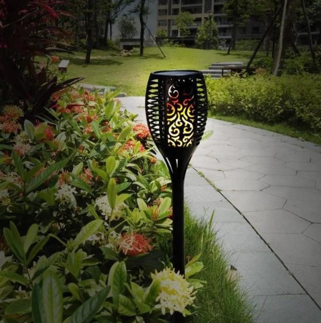 Садовый светильник Факел🔥 [Flame Light] с имитацией огня 12 LED высота 48 cm, IP65🔥