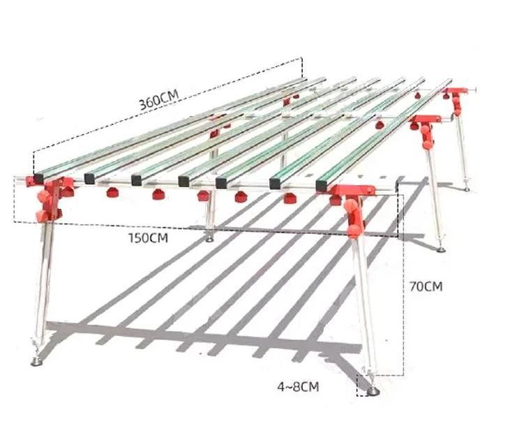 Рабочий стол для резки плитки Shijing P700 3,6x1,5 двойной