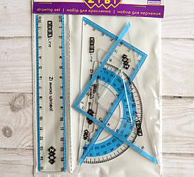 Набор для геометрии пластиковый ZiBi