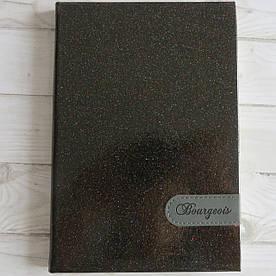 Ежедневник недатированный 160 листов, твердая обложка черного цвета с мерцанием