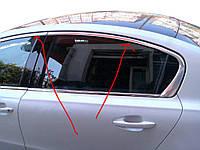 Верхняя окантовка стекол (Sedan, нерж) для Peugeot 508 2010-2018 гг.