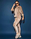 Жіночий велюровий спортивний костюм; розмір 48-50, 52-54, 54-56, 6 кольорів.., фото 2