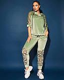 Жіночий велюровий спортивний костюм; розмір 48-50, 52-54, 54-56, 6 кольорів.., фото 3
