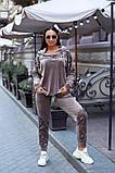 Женский велюровый спортивный  костюм; разм 48-50, 52-54, 54-56, 6 цветов.., фото 4