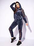 Жіночий велюровий спортивний костюм; розмір 48-50, 52-54, 54-56, 6 кольорів.., фото 5