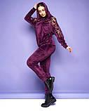 Жіночий велюровий спортивний костюм; розмір 48-50, 52-54, 54-56, 6 кольорів.., фото 6