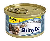 Консервы Gimpet Shiny Cat для кошек, c тунцом и креветками, 70г