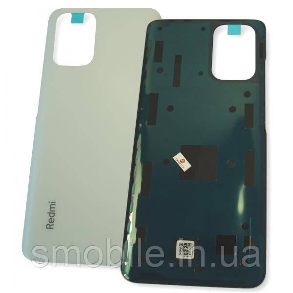 Стекло задней крышки Xiaomi Redmi Note 10 4G белое (оригинал Китай)