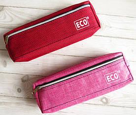Пенал-косметичка на 2-х блискавках, червоні та рожеві