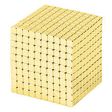 Магнитные кубики-головоломка SKY NEOCUBE (V5) комплект (1000 шт) Light Gold
