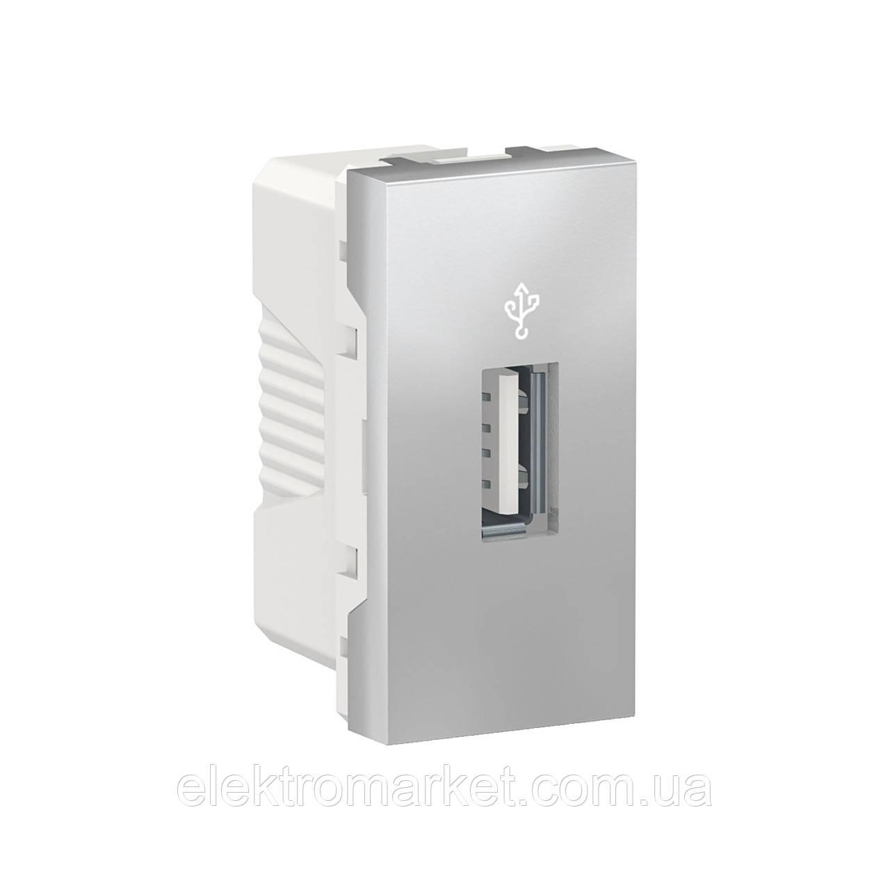USB-коннектор 1 модуль алюміній