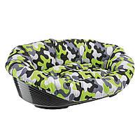Пластиковый лежак для собак и кошек в комплекте с подушкой, SOFA' 12.