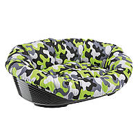 Пластиковый лежак для собак и кошек в комплекте с подушкой, SOFA' 10.