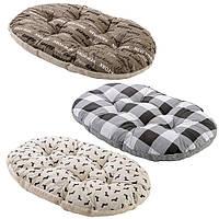Подушка из х/б ткани с искусственным мехом для собак и кошек, RELAX F.