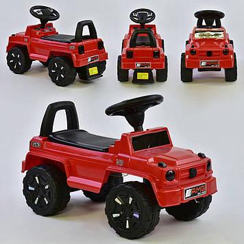 Детская машинка-толокар красная Каталка-толокар с световыми эффектами Машинка толокар с багажником ребенку