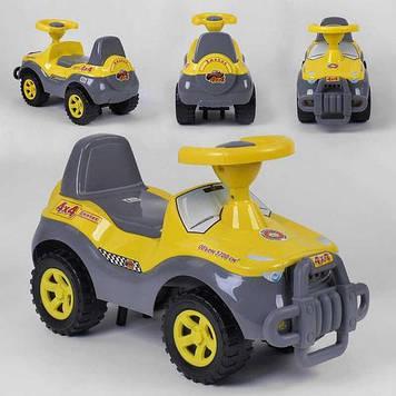 Каталка джипик-машинка для прогулок с большими колесами и сиденьем со спинкой Каталка-толокар для мальчика
