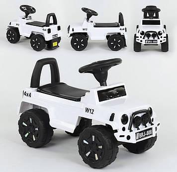 Детская машинка-толокар цвет белый Машинка толокар русское озвучивание и световые эффекты Каталка-толокар