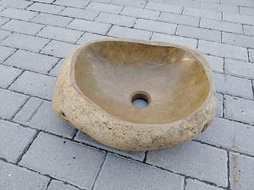 Раковина из природного речного камня River stone