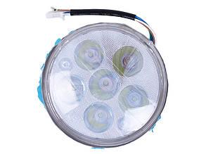 Оптика круглої фари (лінза з ободом) 8+1 LED d-140мм Дельта/Альфа