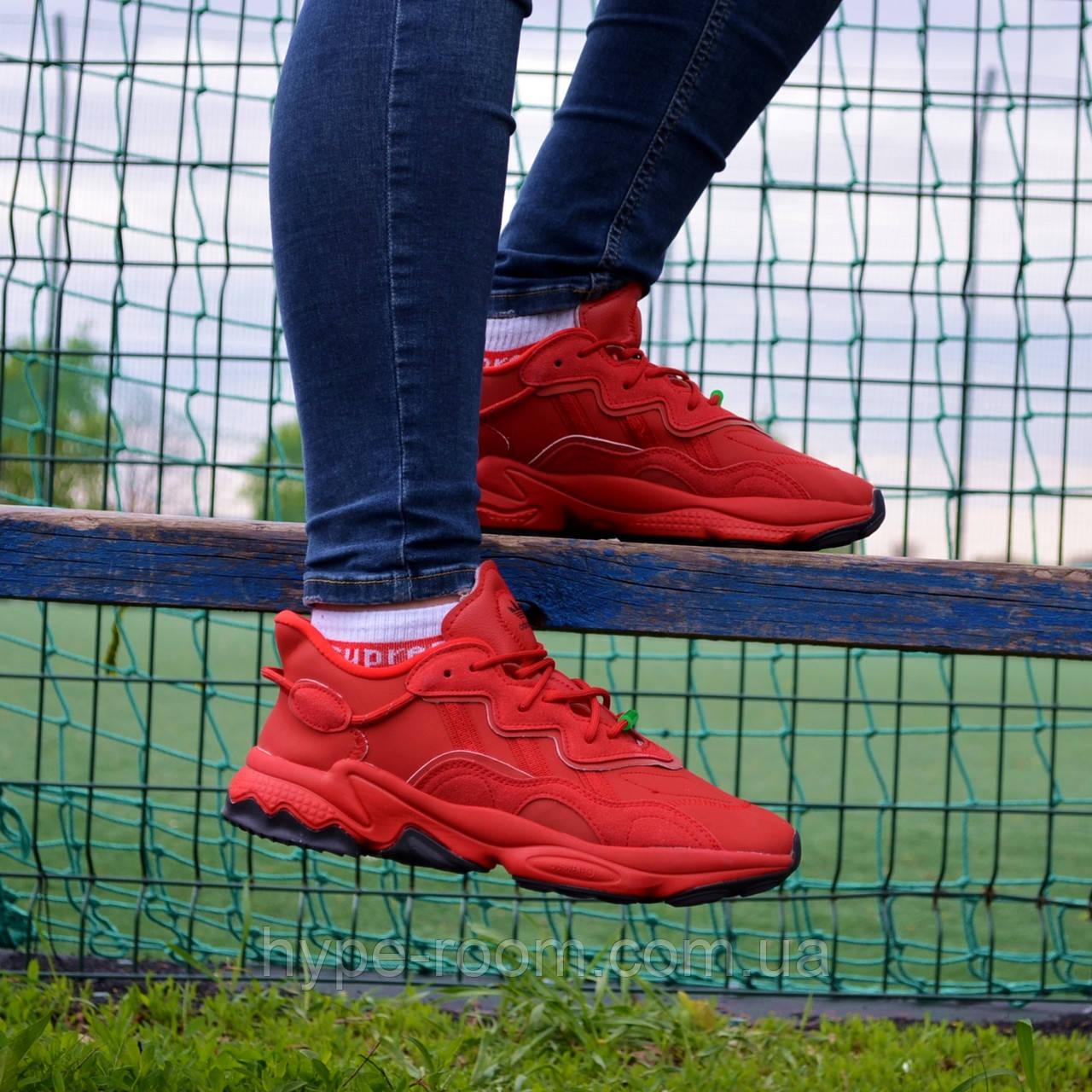Чоловічі Кросівки Adidas Ozweego Red адідас озвиго червоні чоловічі кроссівки адідас озвіго червоні